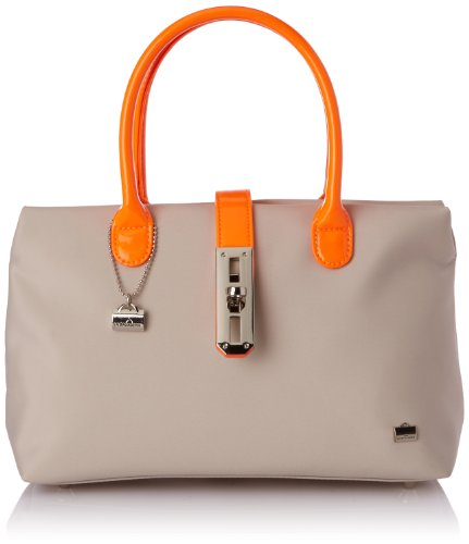 La Bagagerie Women's Shop Xfluo Top-Handle Bag Beige Beige (Taupe /Orange) Taille Unique
