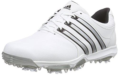 adidas Tour 360 X WD, Scarpe da Golf Uomo, Bianco (White / Black / Silver Metallic), 42 EU