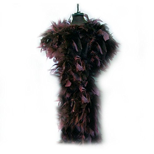 SACAS 100g Chocolate Brown Feather Chandelle Boa for Party - 1
