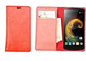 R&A Pu Leather Wallet Case Cover For Micromax Bolt A27