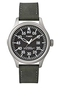 Timex T2n997 Mens Military Style Leather Band Watch