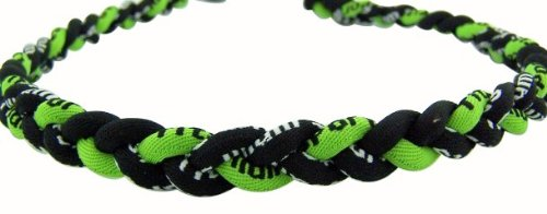 Green/Black 18In Titanium Sport Necklace For Men