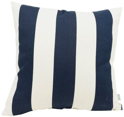 Majestic Home Goods Vertical Stripe Pillow, Large, Navy Blue