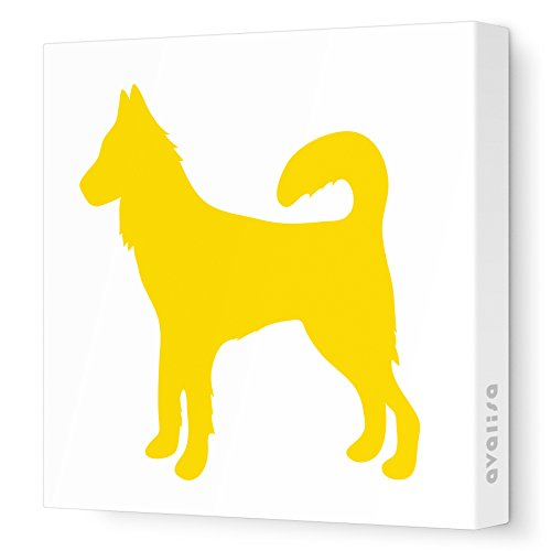 """Avalisa Stretched Canvas Dog Nursery Wall Art, Yellow, 36"""" X 36"""" front-926602"""