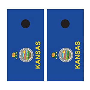 KANSAS FLAG Cornhole Bean Bag Toss Game