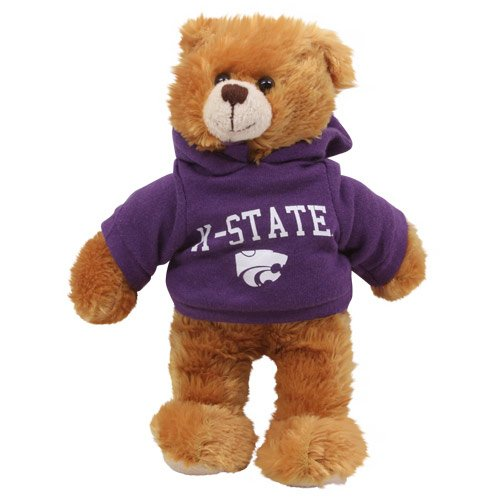"Plushland NCAA 8"" Plush Hoody Teddy Bear-Kansas State Wildcats - 1"