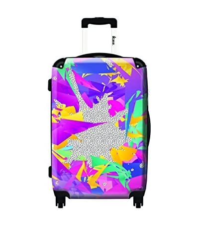 Ikase 80'S Abstract Rolling Luggage, Multi, 10X16X24