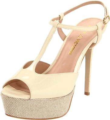 Pour La Victoire Women's Vicenta Platform Sandal,Eggshell,6 M US
