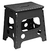 Superior Folding Stool 13 Inch Black