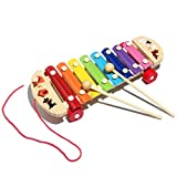 Iusun Baby Kid Musical Toys Xylophone Wisdom Development Wooden Instrument Educational Toy (Multicolor)