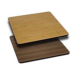 Flash Furniture Square Table Top or Reversible Laminate Top, 24\