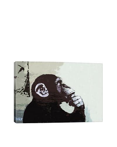 Banksy The Thinker Monkey Giclée On Canvas