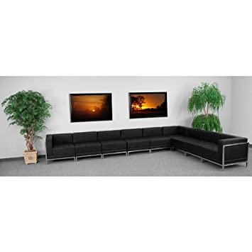 9pc Modern Leather Office Reception Sectional Sofa Set - FF-0433-12-S15