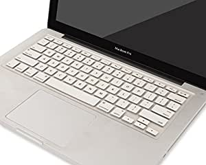 """Heartly Premium Soft Silicone Keyboard Skin Crystal Guard Protector Cover For MacBook 13"""" / 15"""" / 17"""" inch Champagne Silver"""