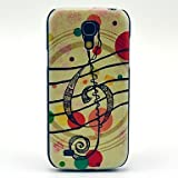 Music Bubble Pattern Hard Back Cover Case for Samsung Galaxy S4 Mini I9190 in Multi Colour