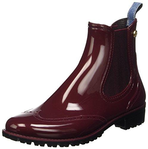 Trussardi Jeans 79S20451, Scarpe a Collo Alto Donna, Rosso (Bordeaux), 39 EU