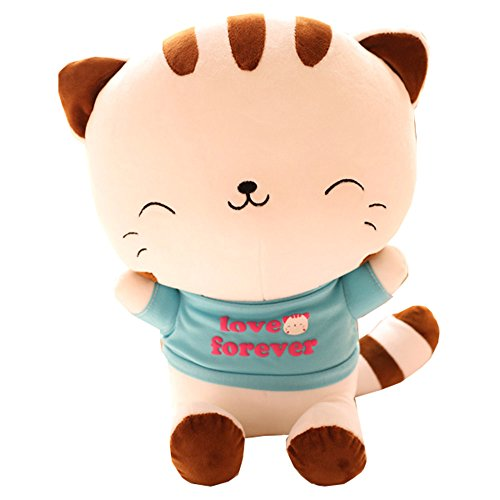 Youngmars Cute Cartoon Big Face Cat A Variety Of Modelling Pillow Doll Plush Toy (Blue Love)