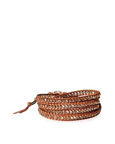 Chan Luu Lt Col Tpz/Nat Brn Wrap Bracelet