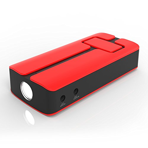 MAXOAK 12V 11000mAh Portable Car Jump Starter and Portable Charger for iphone, Sumsung, Motorola, Tablet, Laptop - Red