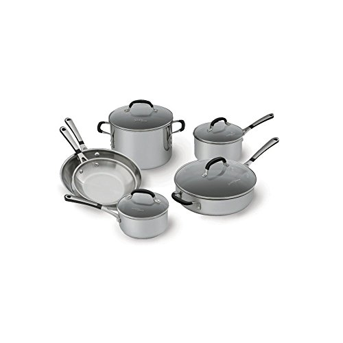 Simply Calphalon Stainless Steel 10 piece Cookware Set (Calphalon 10 Inch Everyday Pan compare prices)