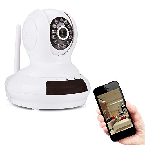 Indoor HD 720P Überwachungskamera P2P Wireless Smart Wolken IP Kamera WiFi Netzwerk Kamera IR-LED Nachtsicht (Zwei Wege Audio, Schwenkbar, SD Karte, Weiß)