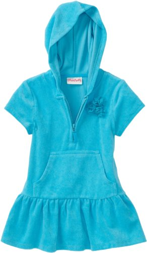 Flapdoodles Girls 2-6X Odette Hoodie Cover Up, Caribbean, 4