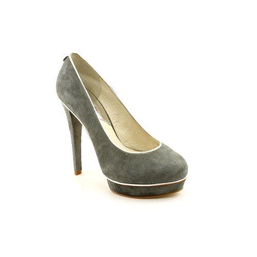 Michael Kors Gideon Pump Womens Size 9.5 Gray Suede Platforms Heels Shoes
