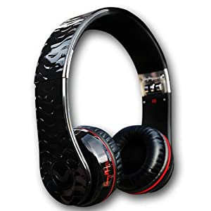 Fanny Wang Headphones Co. Premium Luxury On-Ear Headphones, Black, (FW-HEADPH-1001-BLK) (Discontinued by Manufacturer)