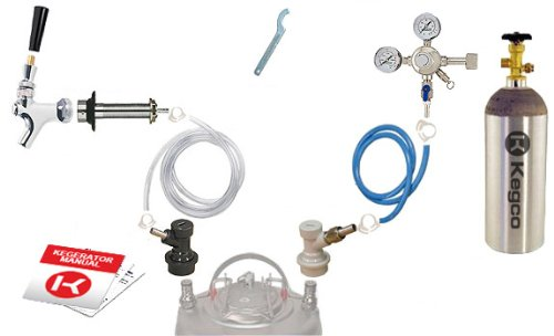 Kegco Standard Homebrew Kegerator Conversion Kit with 5 lb. Co2 Tank - SHCK-5T