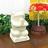 MANJA バリ雑貨 石彫りオブジェ お祈りガエル 全高13.5cm STO-0026
