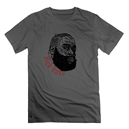 World Star Hiphop Music Rick Ross T-shirt DeepHeather M For Men (New Worlds Jamie Dornan compare prices)