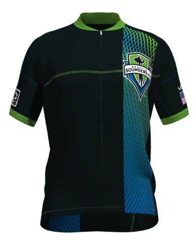 MLS Seattle Sounders Women's Primary Short Sleeve Vomax Jersey, Small (Sounders Cycling Jersey compare prices)