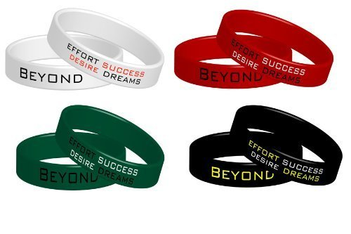 Beyond Dreams - 4 braccialetti fitness, motivo Beyond Dreams