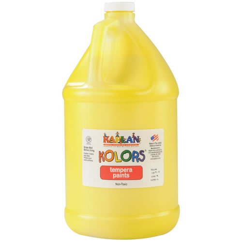 Kaplan Kolors Tempera Paint Yellow (Gallon) 2003 2012 bmw z4 300 alpine white gallon basecoat paint