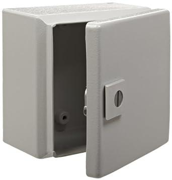 Vanity Light Junction Box Height : Rittal 8018098 Light Grey 16 Gauge Steel Hinge Cover Junction Box Enclosure, 6