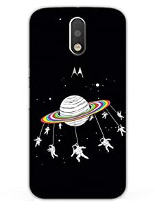 Astronaut - Merry Go Round - Travel To Space - Hard Back Case Cover for Moto G4 - Superior Matte Finish - HD Printed Cases and Covers