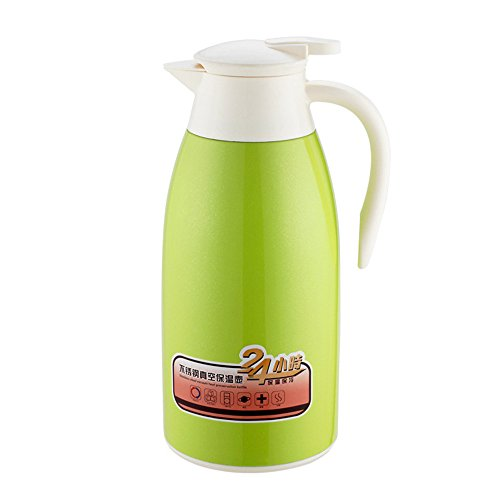 Haosen 2,1 litri thermos caffe 304 in acciaio inox thermos caffè borraccia metal flask - 100% a prova di perdite Doppio uso caldo e freddo (Verde)