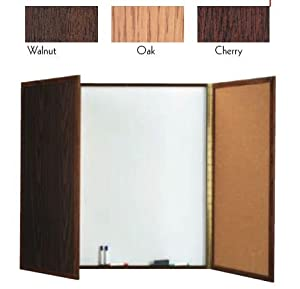 "Enclosed Planning Board Hardwood Laminate: Walnut, Size: 48"" H x 48"" W x 3"" D"