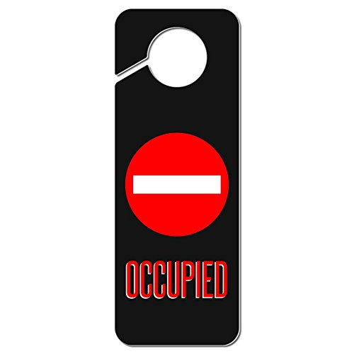 Graphics and More Occupied Red Circle Plastic Door Knob Hanger Sign (Occupied Door Knob compare prices)