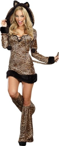 Cheetah Luscious Adult Womens Costume Md Adult Womens Costume