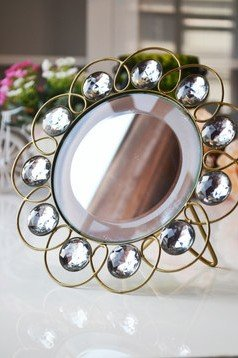 European Style Desktop Folding Princess Mirror Vanity Mirror front-879925