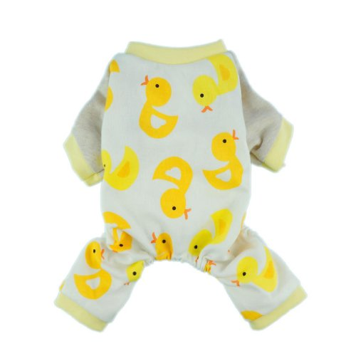 Fitwarm-Cute-Duck-Dog-Pajamas-Dog-Clothes-Dog-Jumpsuit-Pet-Cat-Pjs