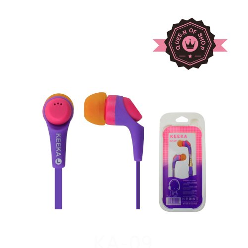 Queen K09 Purple Buy 2 Get 1 High Quality Sound Wired Dual Color Earbud 3.5Mm Universal Headset For Apple Ipad 1/2 And Most Cell Phone Models Good Gift For Kids