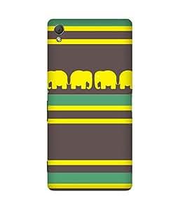 Stripes And Elephant Print (30) Sony Xperia Z3 Case