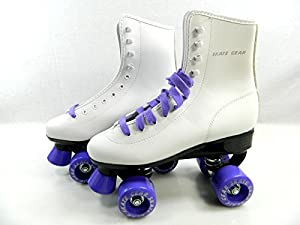 Big Boy Speedy Roller Skate Kids Youth Adult Men Women Size 1-13 (White Purple, 7 (Adult Men))