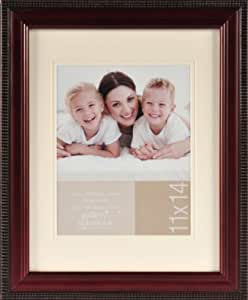 Pinnacle Mahogany Portrait Frame with Beaded Edge, 11-Inch by 14-Inch Matted to 8-Inch by 10-Inch