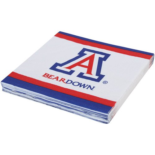 Mayflower Distributing Company 24 Count University of Arizona Beverage Napkin, Multicolor