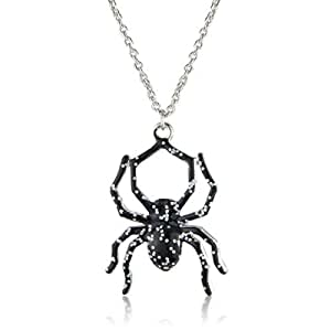 Halloween/ Fancy Dress Sparkly and Scary Spider Necklace - matching earring's available - arrives in lovely gift bag.