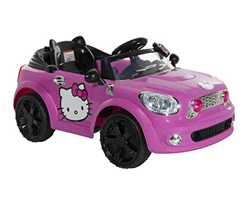 Hello-Kitty-Coupe-Ride-On-Car-PinkBlack