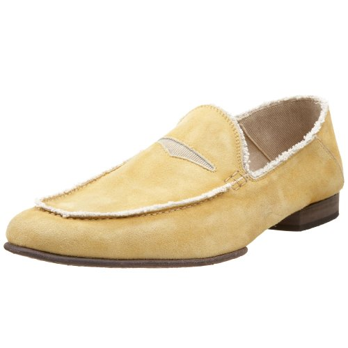 Donald J Pliner Men's Vian Loafer, Mustard/Mushroom, 13 M US